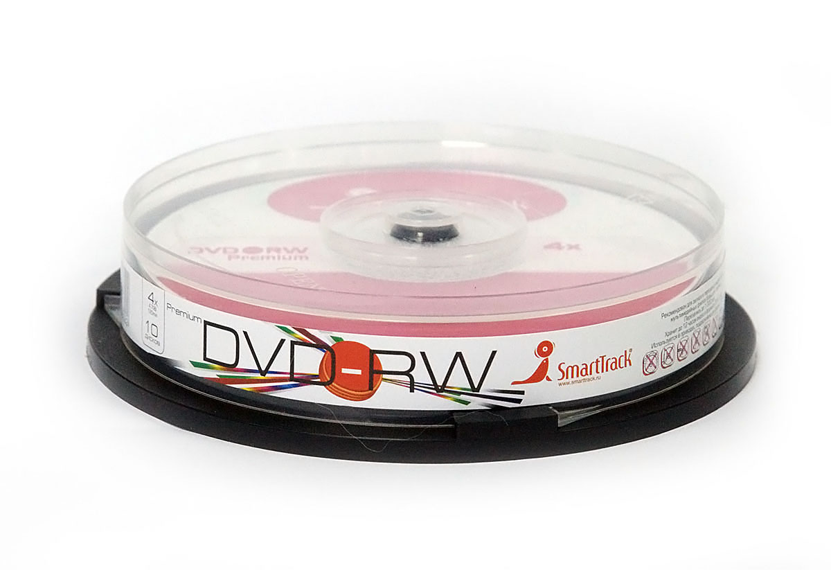 Smart Buy DVD-RW/4.7Gb/4x/CB-10