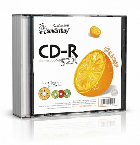 Smart Buy CD-R/80min/52x/Fresh-Orange/Sl-5/200