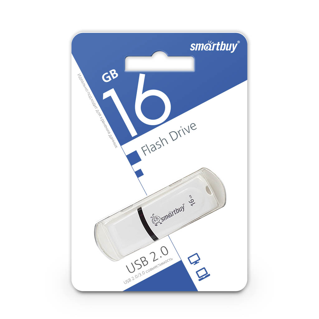 Флэш-диск Smart Buy 16Gb Paean White