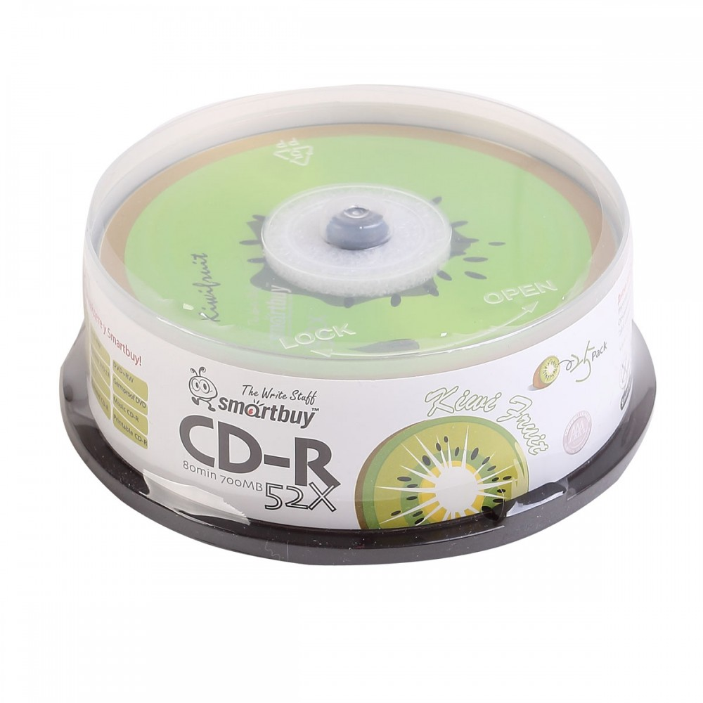 Smart Buy CD-R/80min/52x/Fresh-Kiwifrut/CB25