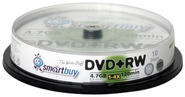 Smart Buy DVD+RW/4.7Gb/4x/CB-10