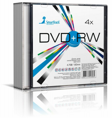 Smart Buy DVD+RW 4.7 Gb/Slim 5/200