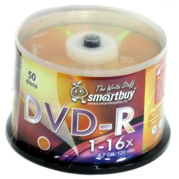 Smart Buy DVD-R 4.7 Gb/16x/Cake box 50/250