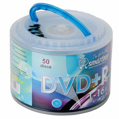 Smart Buy DVD+R/4.7Gb/16x/CB-50/250